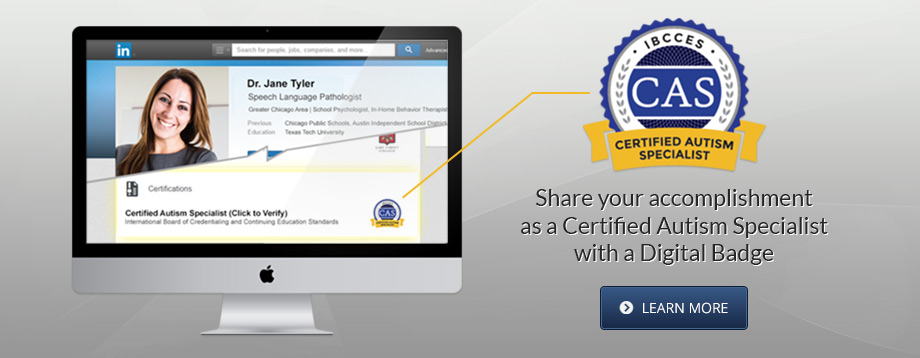 Share your accomplishment as a CAS with a Digital Badge