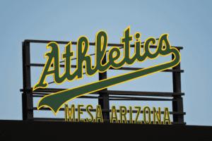 Oakland A's Mesa sign