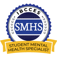 SMHS - Student Mental Health Specialist badge from IBCCES