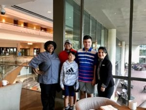 Family picture with staff at Sawgrass Marriott