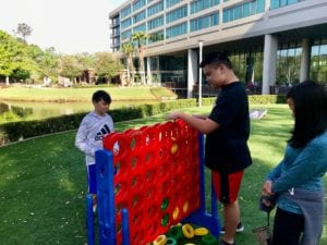 Giant Connect Four at Sawgrass Marriott great for son with autism