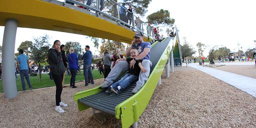 13 Mesa Park Parent and child on slide Arizona