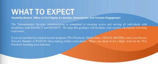 TSA What to Expect – Awareness Series