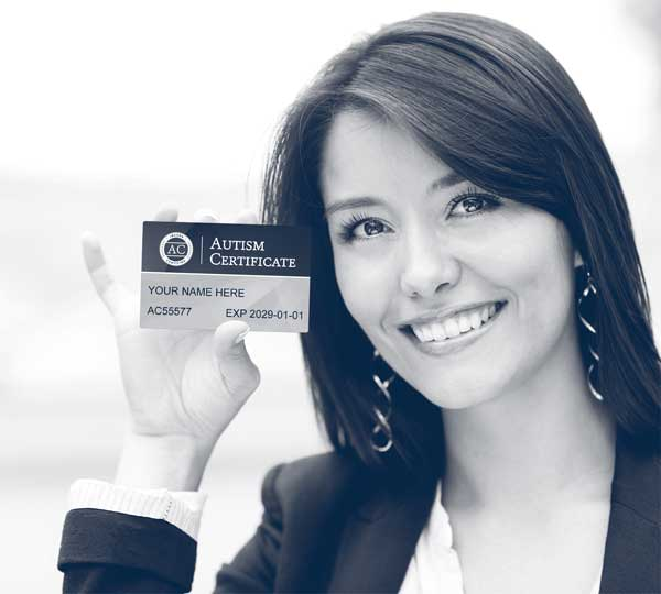 woman holding AC card