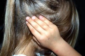 Young girl having sensory issues