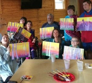 group painting class at HEARTism