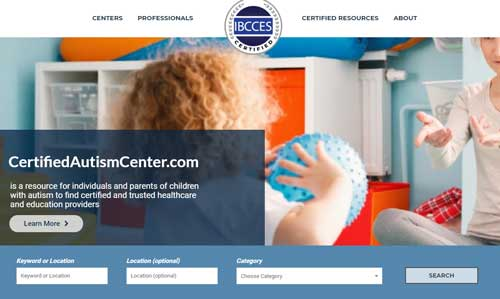 Certified-Autism-center-homepage-for-healthcare-and-education-autism-resources