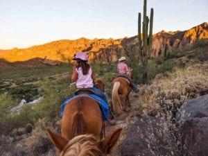 Saguaro Lake Guest Ranch girls horseback riding