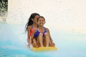 Water World Screamin Mimi ride with two girls