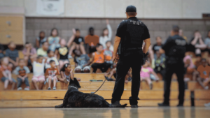 Mesa PD at school assembly