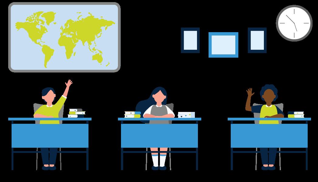 kids in classroom at their desks