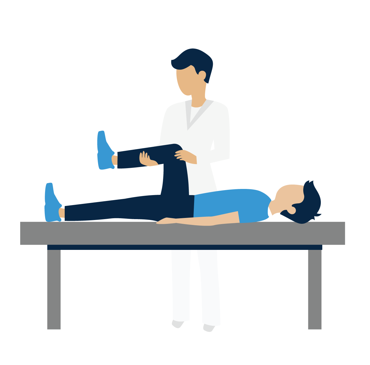 OT working with patient on the table
