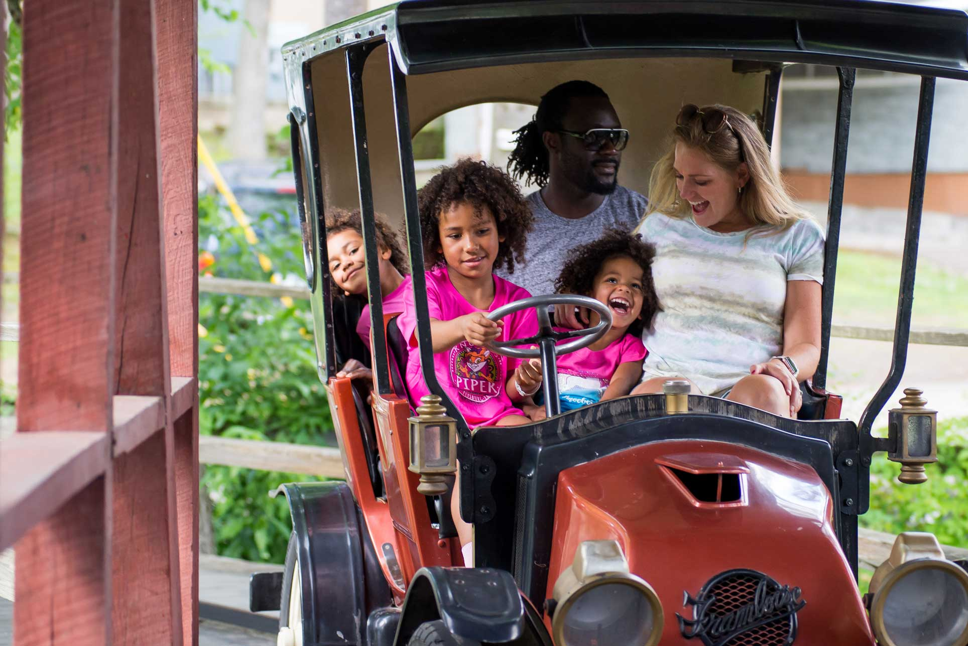 Knoebels family enjoying ride together