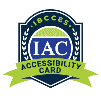 IBCCES Accessibility Card logo